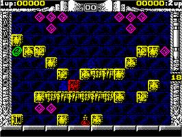 In game image of Spherical on the Sinclair ZX Spectrum.