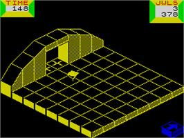 In game image of Spindizzy on the Sinclair ZX Spectrum.