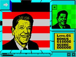 In game image of Split Personalities on the Sinclair ZX Spectrum.