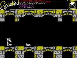 In game image of Spooked on the Sinclair ZX Spectrum.
