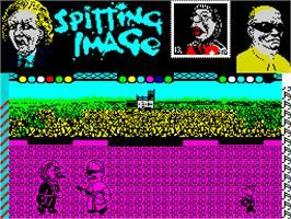 In game image of Sporting Triangles on the Sinclair ZX Spectrum.