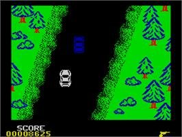 In game image of Spy Hunter on the Sinclair ZX Spectrum.