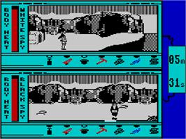 In game image of Spy vs. Spy III: Arctic Antics on the Sinclair ZX Spectrum.