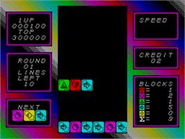In game image of Stack Up on the Sinclair ZX Spectrum.