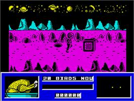 In game image of Star Paws on the Sinclair ZX Spectrum.