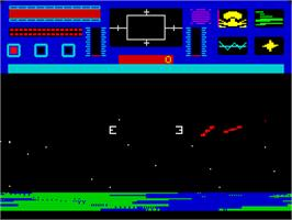 In game image of Star Raiders II on the Sinclair ZX Spectrum.