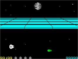 In game image of Star Wars: Return of the Jedi - Death Star Battle on the Sinclair ZX Spectrum.