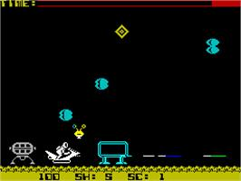 In game image of Starbike on the Sinclair ZX Spectrum.