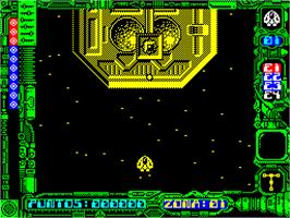 In game image of Stardust on the Sinclair ZX Spectrum.