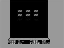 In game image of Starfire on the Sinclair ZX Spectrum.