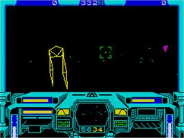 In game image of Starglider on the Sinclair ZX Spectrum.