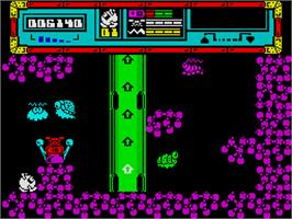 In game image of Starquake on the Sinclair ZX Spectrum.