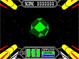In game image of Starstrike II on the Sinclair ZX Spectrum.