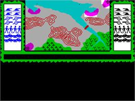 In game image of Stonkers on the Sinclair ZX Spectrum.