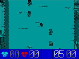 In game image of Street Cred Football on the Sinclair ZX Spectrum.
