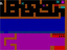 In game image of Styx on the Sinclair ZX Spectrum.