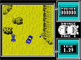In game image of Super Stuntman on the Sinclair ZX Spectrum.