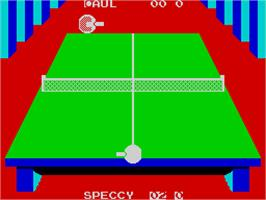 In game image of Superstar Indoor Sports on the Sinclair ZX Spectrum.