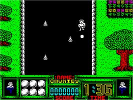 In game image of Supreme Challenge on the Sinclair ZX Spectrum.