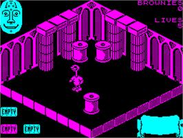 In game image of Sweevo's World on the Sinclair ZX Spectrum.