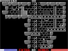 In game image of Switchblade on the Sinclair ZX Spectrum.