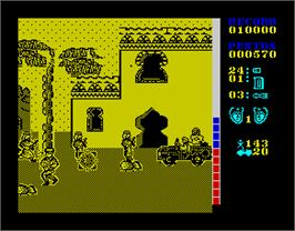 In game image of The A-Team on the Sinclair ZX Spectrum.