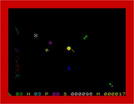 In game image of The Black Hole on the Sinclair ZX Spectrum.