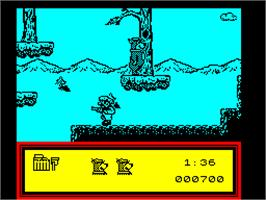 In game image of The Great Escape on the Sinclair ZX Spectrum.