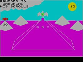 In game image of The Guild of Thieves on the Sinclair ZX Spectrum.
