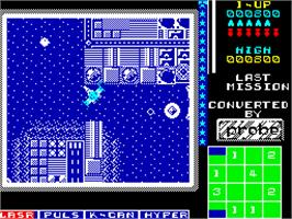In game image of The Last Mission on the Sinclair ZX Spectrum.