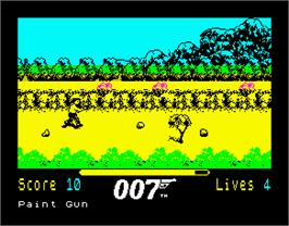 In game image of The Living Daylights on the Sinclair ZX Spectrum.