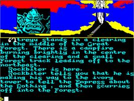In game image of The Neverending Story on the Sinclair ZX Spectrum.