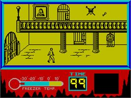 In game image of The Rocky Horror Show on the Sinclair ZX Spectrum.