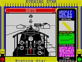 In game image of The Running Man on the Sinclair ZX Spectrum.