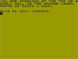 In game image of The Slugger on the Sinclair ZX Spectrum.