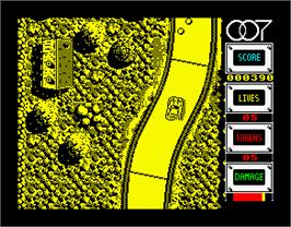 In game image of The Spy Who Loved Me on the Sinclair ZX Spectrum.
