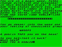 In game image of The Trap Door on the Sinclair ZX Spectrum.