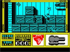 In game image of The Untouchables on the Sinclair ZX Spectrum.