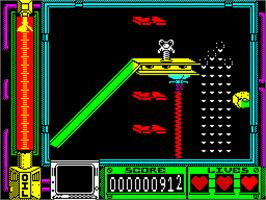 In game image of Thing Bounces Back on the Sinclair ZX Spectrum.