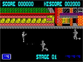 In game image of Tie Break on the Sinclair ZX Spectrum.