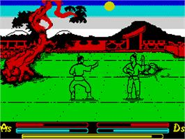 In game image of Time and Magik: The Trilogy on the Sinclair ZX Spectrum.
