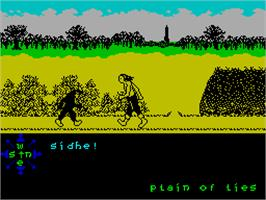 In game image of Tir Na Nog on the Sinclair ZX Spectrum.