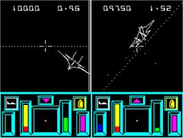 In game image of Top Gun on the Sinclair ZX Spectrum.