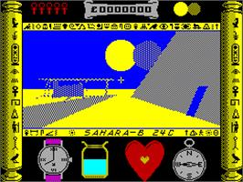 In game image of Total Eclipse on the Sinclair ZX Spectrum.