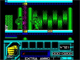 In game image of Total Recall on the Sinclair ZX Spectrum.