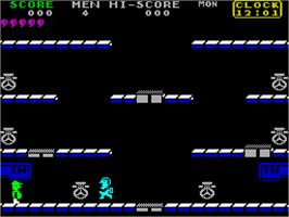 In game image of Toy Bizarre on the Sinclair ZX Spectrum.