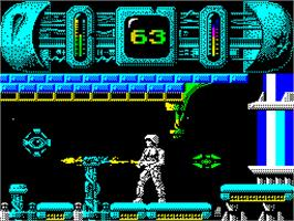 In game image of Trantor the Last Stormtrooper on the Sinclair ZX Spectrum.