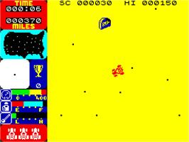In game image of Tranz Am on the Sinclair ZX Spectrum.