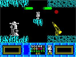 In game image of Tremor on the Sinclair ZX Spectrum.
