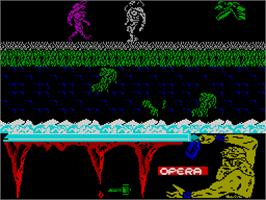 In game image of Ulises on the Sinclair ZX Spectrum.